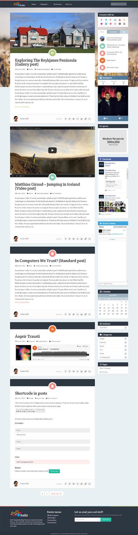 Keilir, Wordpress Responsive Retina Blog Theme | WP Download | downloadingtemplate | Scoop.it