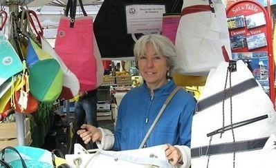 Une artiste bretonne crée, à partir de voiles de bateaux recyclées, des sacs insolites.   All Boats Avenue   Nautisme et Plaisance   Scoop.it