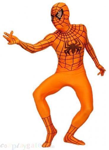 Orange Spandex Lycra Spider Man Zentai Suit | spiderman costume,spiderman costumes | Scoop.it