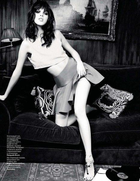 Anais Pouliot by Ellen von Unwerth for Vogue Russia March 2012   Photo   Scoop.it