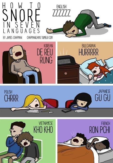 Eternuer, mâcher et ronfler dans toutes les langues | English as a Second language | Scoop.it