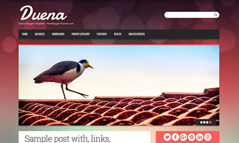 Duena Blogger Template | Pro Templates Lab | Scoop.it