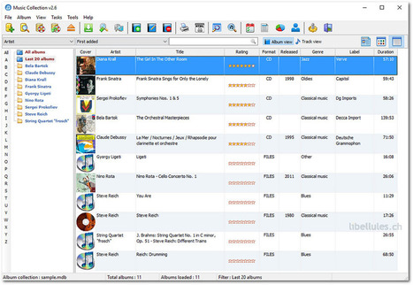 Music Collection -  permet d'archiver votre collection de musique | Chroniques libelluliennes | Scoop.it