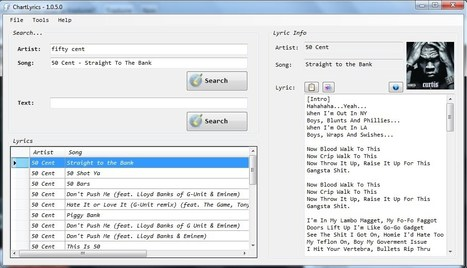 ChartLyrics | Download ChartLyrics software for free at SourceForge.net | 21st Century Tools for Teaching-People and Learners | Scoop.it