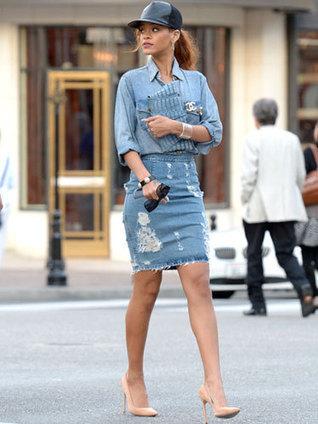 7 Denim Skirts We Can't Wait to Wear | Ziehl Vintage Fashion | Scoop.it