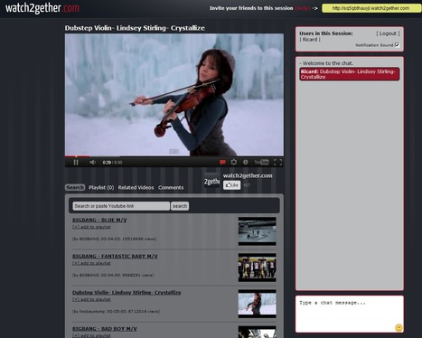 Watch2gether.com | Create: 2.0 Tools... and ESL | Scoop.it