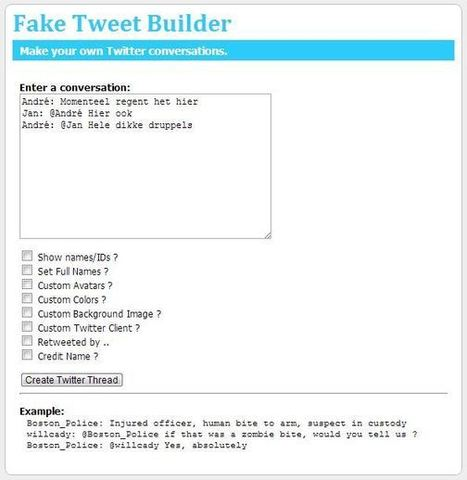 Je leerlingen leren Twitteren met 'Fake Tweet Builder' « It's all in the Cloud! | Twitter in de klas | Scoop.it