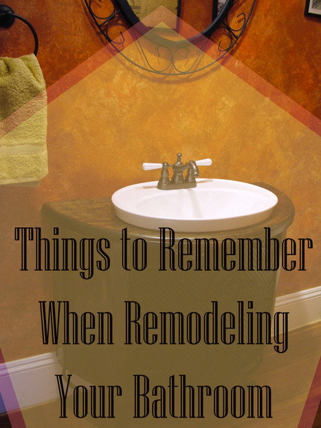 Don't Screw Up Your Bathroom Remodel! Follow these tips! - Goedeker's Home Life | Appliances | Scoop.it