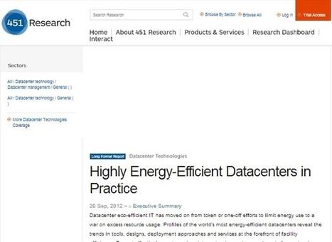451 Research Publishes Report on Energy Efficiency Within Data Centers | Développement durable et efficacité énergétique | Scoop.it