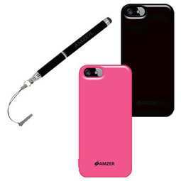 Amzer Soft Gel TPU Gloss Skin Case Combo Stylus for iPhone 5 | iPhone 5S | Scoop.it