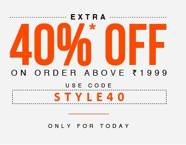 Get 40% Off on Orders Rs 1999 with Use Free Jabong Coupons 2014 | Latest Coupon Codes and Deals in India for Online Shopping Stores | Scoop.it