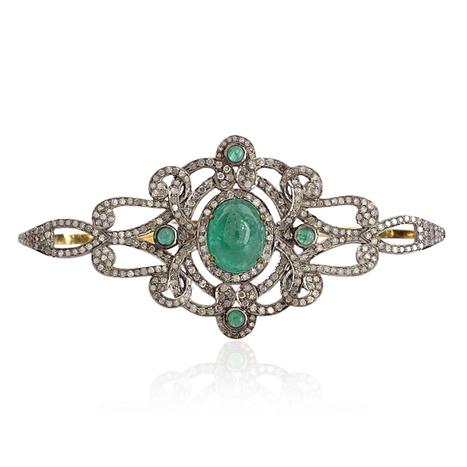 18k Gold Emerald Palm Bracelet | Gemstone Jewelry | GemcoDesigns | Pave Diamond Palm Bracelets | Diamond Jewelry | GemcoDesigns | Scoop.it
