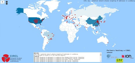 CIRCL map - potential network attacks targeting IP addresses in Luxembourg | Luxembourg (Europe) | Scoop.it