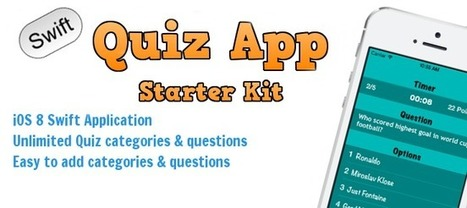 Buy Quiz App Starter Kit - Swift (iOS8) Full Applications | Chupamobile.com | ios source code | Scoop.it