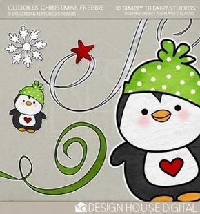 Cuddles Christmas Stickers Freebie: Digital Scrapbooking Kits: Design House Digital   Free Digital Scrapbookking   Scoop.it