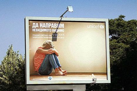 Unicef utilise une silouhette projetée la nuit pour dénoncer les violences domestiques | Quadra Diffusion | Scoop.it