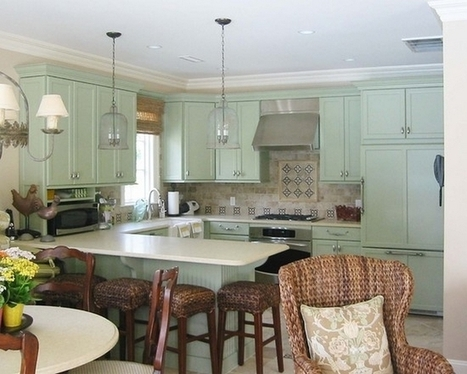 Green Kitchen Cabinets | Home Designs an Decorating Ideas | Scoop.it