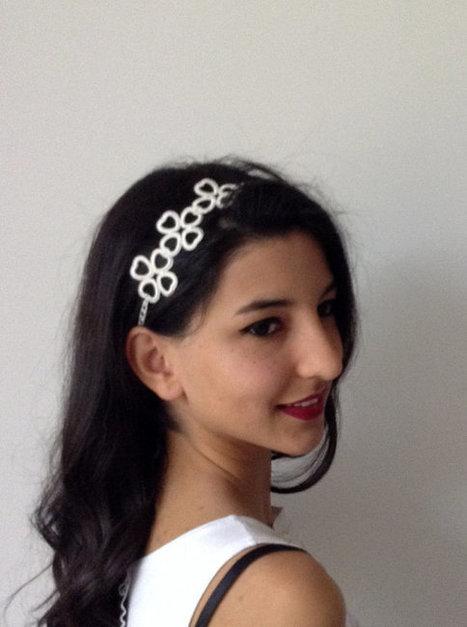 ivory Bridal Hair Accessory, headband, Wedding hair Accessory, handmade, custom design | wedding | Scoop.it