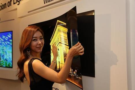 LG Display shows off press-on 'wallpaper' TV under 1mm thick - CNET | Science, Technology, and Current Futurism | Scoop.it