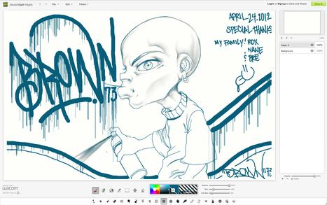 deviantART muro : Appli de dessin en ligne, compatible avec les tablettes graphiques | CRÉER - DESSINER EN LIGNE | Scoop.it