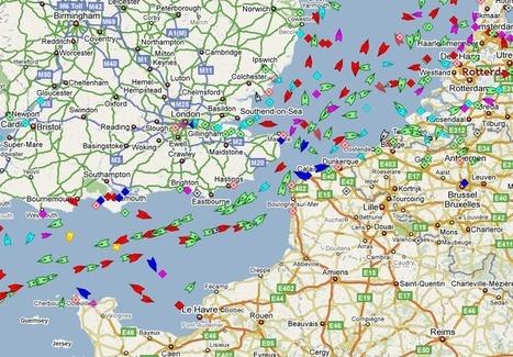 Le traffic maritime mondial en temps réel | cartography & mapping | Scoop.it