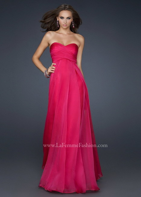 Long Sweetheart Crisscross Bust Pleated Fringe Fuchsia Prom Dress [La Femme 17111 Fuchsia] - $143.90 : 2015 Prom Dresses, 60% off Girls Homecoming Dresses Outlet | long prom dresses | Scoop.it