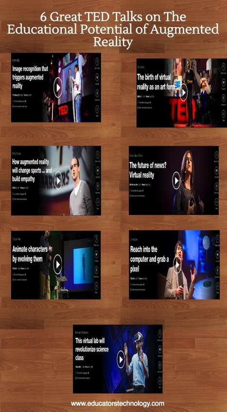 7 Great TED Talks on The Educational Potential of Augmented Reality | REALIDAD AUMENTADA Y ENSEÑANZA 3.0 - AUGMENTED REALITY AND TEACHING 3.0 | Scoop.it