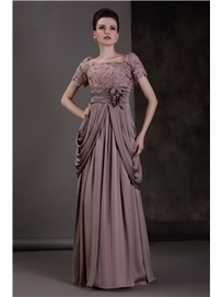 $ 158.59 Fabulous Lace Empire Waist Scoop Neckline Floor-length Luba's Mother of the Bride Dress   Fashion women   Scoop.it