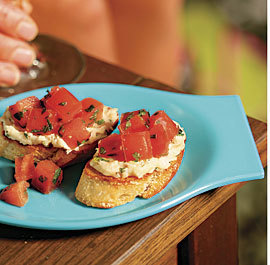 Grilled Bruschetta With Rosemary-white Bean Puree & Heirloom Tomatoes | Healthy Meals | Scoop.it