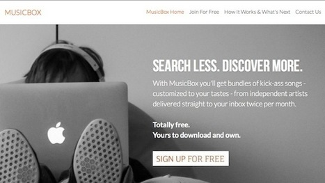 MusicBox Delivers New, Free Music to Download Twice Every Month | I work on the Interwebs | Scoop.it