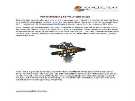 Suitable Planning For Your Retirement   Independent financial advisor   Scoop.it