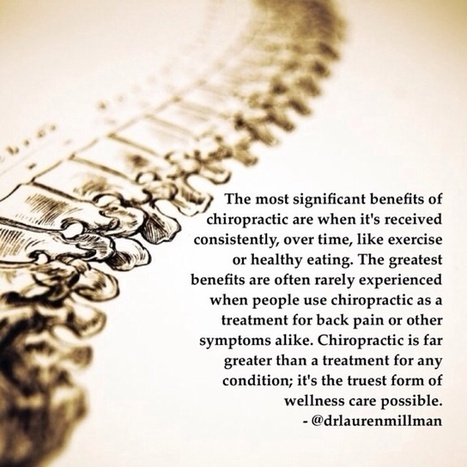 Chiropractic is far greater than a treatment for back pain. | Chiropractic | Scoop.it