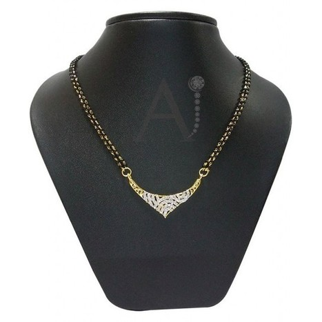 Traditional Mangalsutra Set | American Diamond Jewellery | Scoop.it