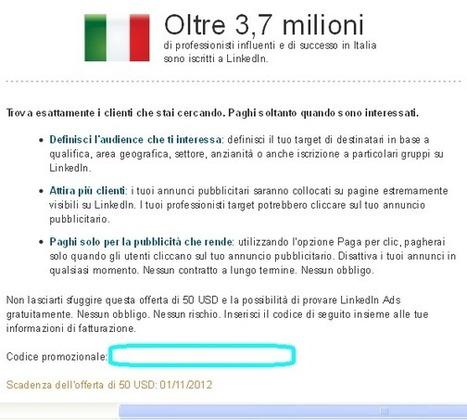 La pubblicità su LinkedIn finalmente in italiano - SocialMediaLife.it | SEO ADDICTED!!! | Scoop.it
