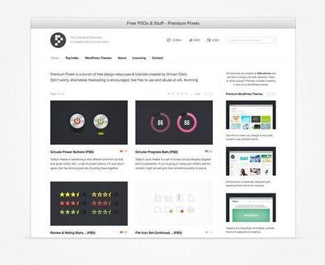 Le meilleur du web #46: liens, ressources, tutoriels et inspiration | Webdesign, interfaces et expérience utilisateur | Scoop.it