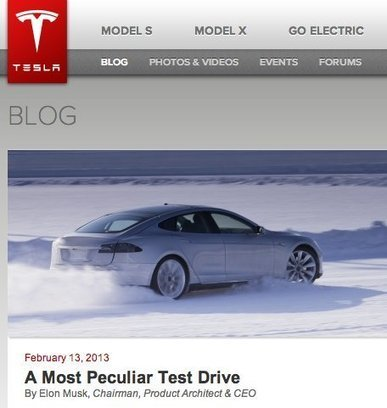 Tesla vs. The New York Times: Everyone's a Media Company/Critic Now | Public Relations & Social Media Insight | Scoop.it