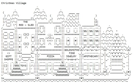 ASCII Art—Buildings and Related—Villages | ASCII Art | Scoop.it