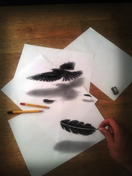 Mind-Boggling 3D Drawings on Flat Sheets of Paper | Machinimania | Scoop.it