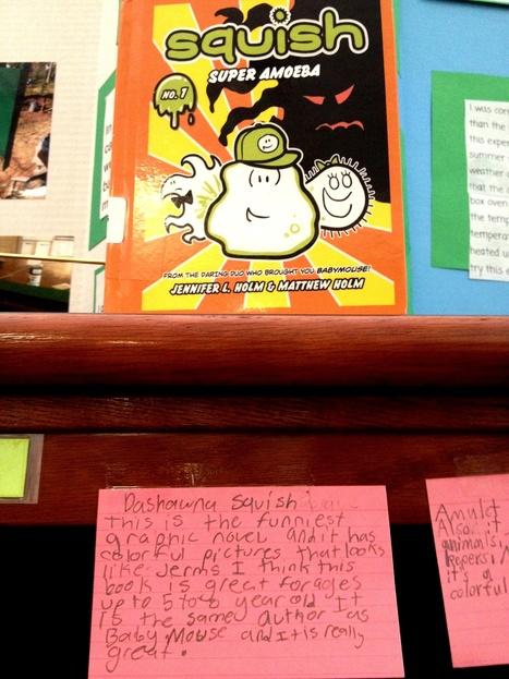 Avid Rachel teaches 2nd grade to write shelf talkers! | Daring Gadgets, QR Codes, Apps, Tools, & Displays | Scoop.it