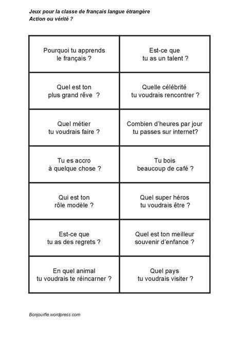 Action ou vérité ? | Français Langue étrangère | Scoop.it