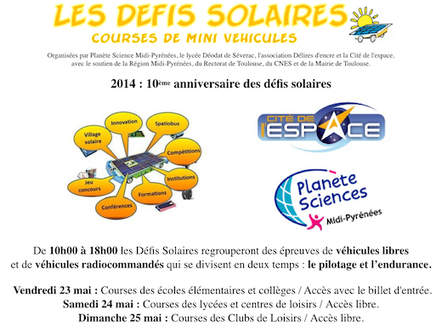 Défis Solaires 2014 - Enjoy Space | #ActInSpace | Scoop.it