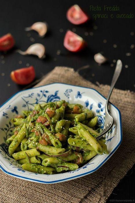 Pasta fredda al pesto crudo di spinaci e avocado - Una V nel piatto - Ricette Vegane e Mondo Vegan   Una V nel Piatto   Scoop.it
