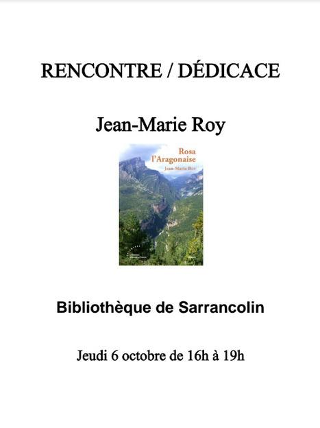 Rencontre avec Jean-Marie Roy à la bibliothèque de Sarrancolin le 6 octobre | Vallée d'Aure - Pyrénées | Scoop.it
