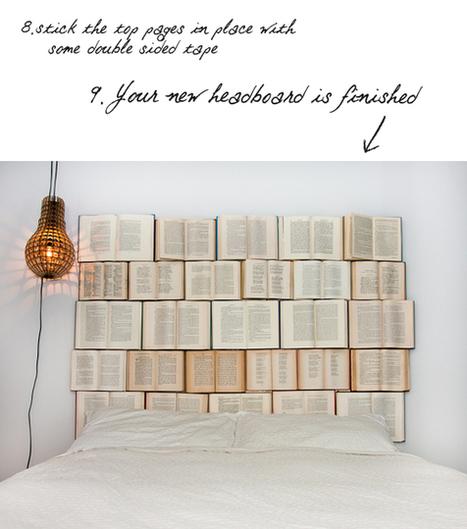 DIY : book headboard   Recyclart   muebles   Scoop.it