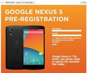 Nexus 5 pre-registration page goes live on WIND, seemingly confirms a few ... - Phandroid.com   I Love Android   Scoop.it