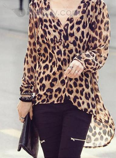 New Fashion Korean Style Loose Leopard Chiffon Shirt | sexy girl | Scoop.it
