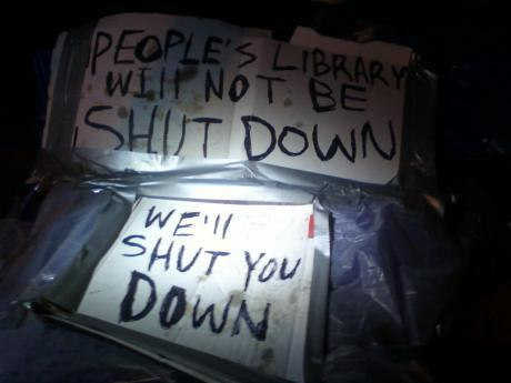 Occupy Wall Street Library Packed 1,178 Books for 'Eviction Resistance'   LibraryLinks LiensBiblio   Scoop.it