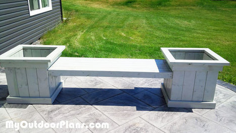 DIY Bench With Planters | MyOutdoorPlans | Free Woodworking Plans and Projects, DIY Shed, Wooden Playhouse, Pergola, Bbq | Garden Plans | Scoop.it