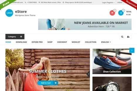 Free eStore Responsive WordPress Theme - FREE Template Depot | Design & Development Tips and Tricks | Scoop.it