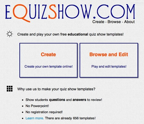 eQuizShow Online Templates | Cool Technology Resources for Teachers | Scoop.it